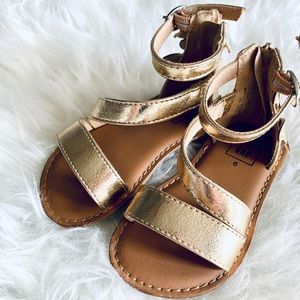 Gold Sandals with butterfly accent  🦋